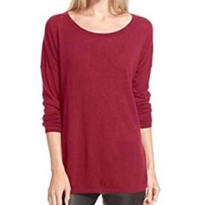 Vince Wool/Cashmere Blend Burgundy Sweater Small